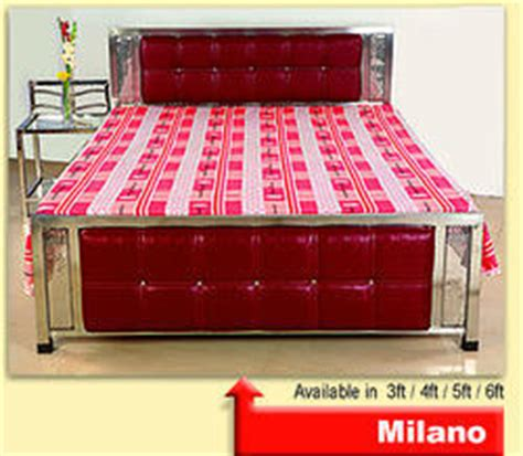 stainless steel bed stainless steel queen bed ss milano