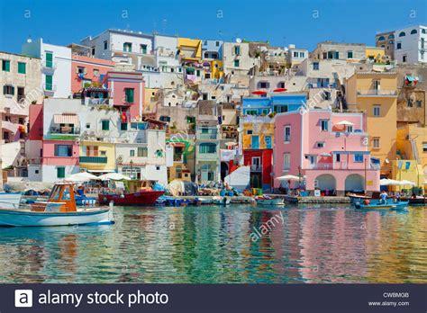 Marina Corricella Procida Island Bay Of Naples Campania