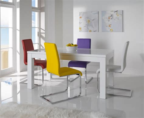white dining table chairs white gloss dining table and chairs marceladick com