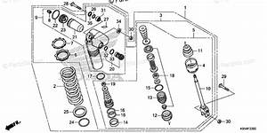 Honda Motorcycle 2018 Oem Parts Diagram For Rear Shock