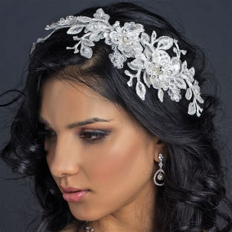 styles for hair hp 1265 ivory lace bridal hair applique accented 6856