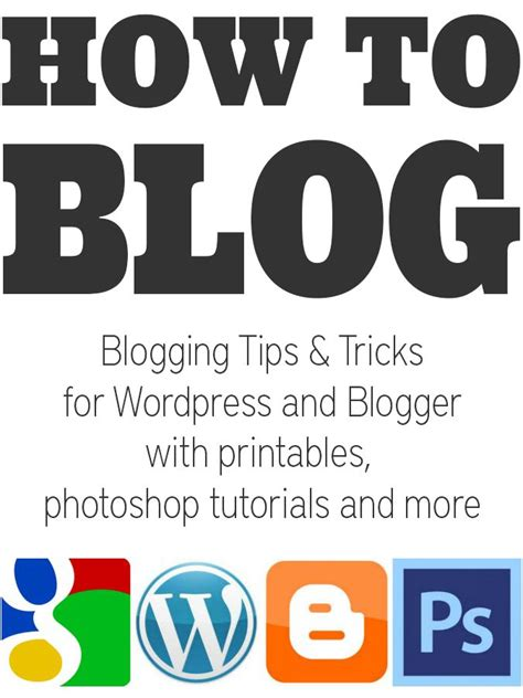 Blogger Tips and Tutorials