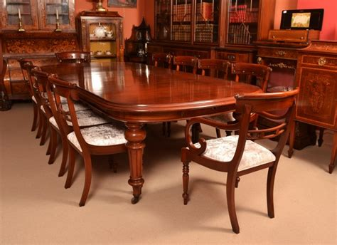 antique mahogany dining table c1870 12 chairs