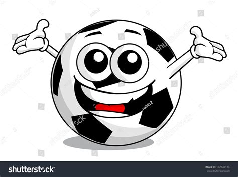 Cartoon Soccer Ball Stock Vector 182842124