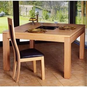 Table Carrée Verre : table carr e arlequin avec verre meubles de normandie ~ Teatrodelosmanantiales.com Idées de Décoration
