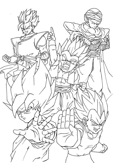 dragon ball  goku super saiyan  coloring pages az