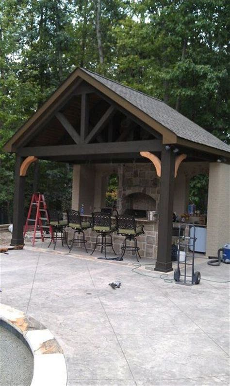 outdoor grill area outdoor kitchen outside kitchen pinterest the natural outdoor living and grill area