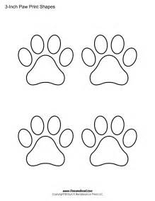 Paw Print Pumpkin Patterns by Paw Print Template Shapes Blank Printable Shapes