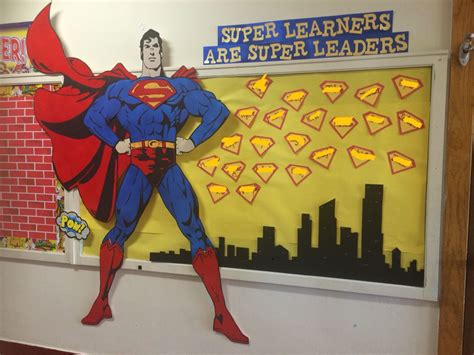 superman superhero bulletin board   school