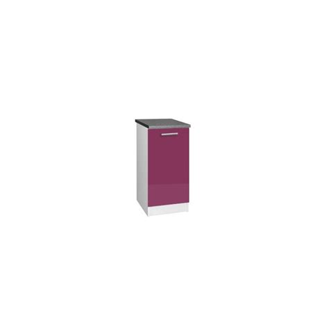 meuble cuisine bas 30 cm meuble bas cuisine tara 30 cm 1 porte 1 233 tag 232 re laqu 233 brillant