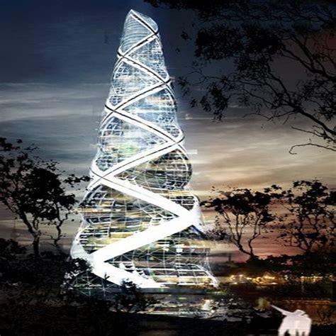 exotic  sustainable spiraling towers ecofriend