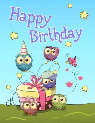 Happy Birthday Cute Owl Themed Notebook Journal Diary