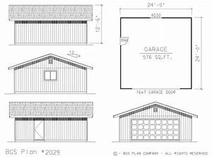 24x24 garage plans With 24x24 garage material list