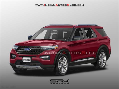 ford explorer rendered  production guise