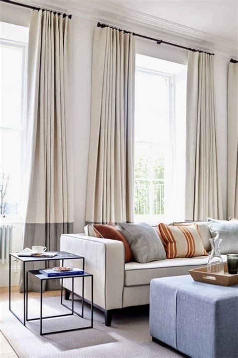 plain store bought curtains    level