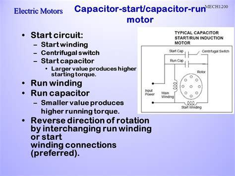 capacitor run motors diagrams parts wiring diagram