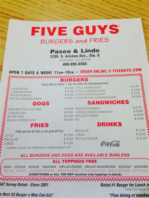 five guys phone number five guys 24 photos 36 reviews burgers 3705 s