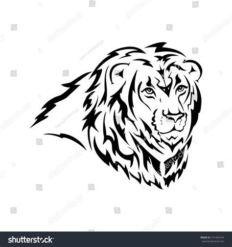 isolated tribal lion tattoo vector illustration  shutterstock