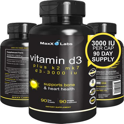 10 best vitamin d3 supplements july 2021 results are based on. Mua Vitamin D3 K2 MK-7 Supplements - New - Full 3,000 IU ...