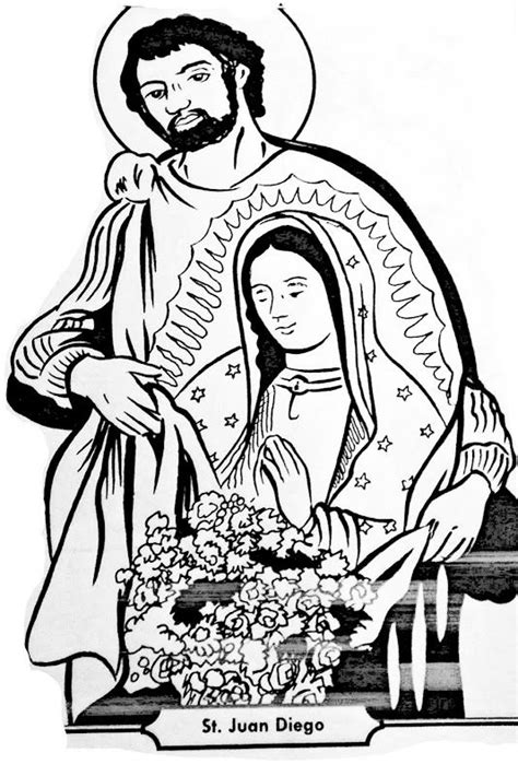 Saint Juan Diego and Virgin of Guadalupe coloring pages | Preschool | Pinterest | Coloring