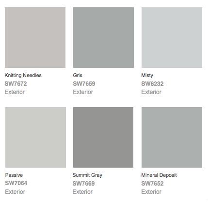 exterior paint color combinations grey sherwin williams