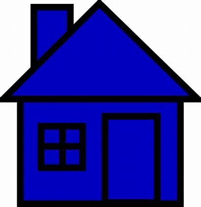Clip Bluehouse Clipart Clker Vector