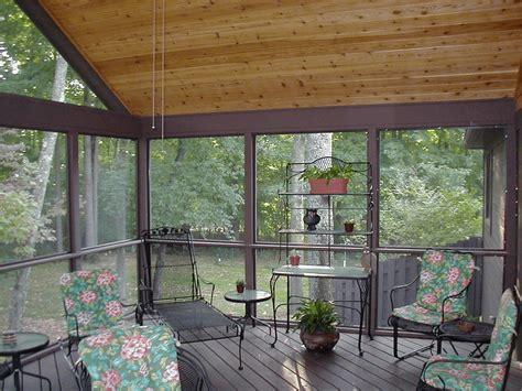 choose   screened  porch materials
