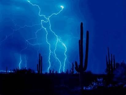 Lightning Animated Bolts Storm Nature Background Am
