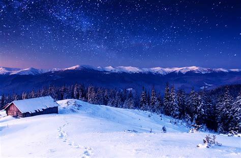 Wallpaper Mountains, 5k, 4k Wallpaper, 8k, Night, Stars