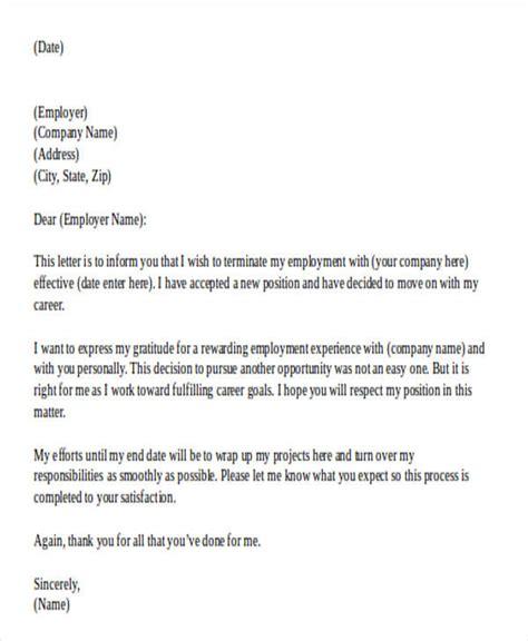 work resignation letter samples templates
