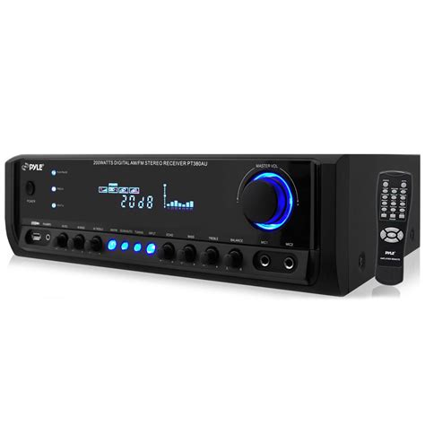 digital radio receiver test pylehome pt380au home and office lifiers receivers sound and recording lifiers