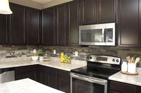 Kitchen Backsplash Ideas For Dark Cabinets - faux stone kitchen backsplash how to nest for less