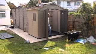 video keter fusion 757 shed wood plastic composite shed