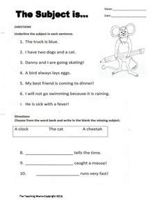 subject and predicate worksheet free lessons subject predicate subject predicate