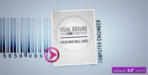 videohive visual resume alpha visual 187 free after effects templates after effects