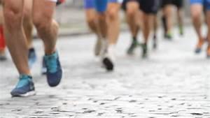 Close Shot Of Crowd Of Feet Running Marathon Stock Footage ...