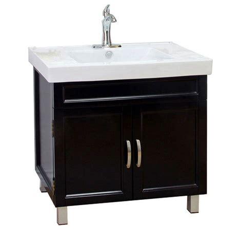 vanity with top bellaterra home flemish b 32 in single vanity in black
