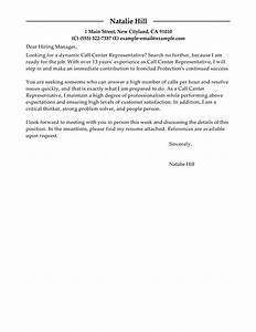 call center representative cover letter examples With cover letter for a call center agent