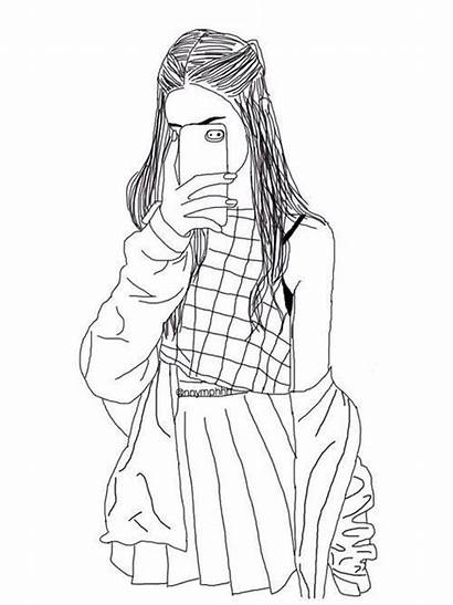 Outline Drawing Hipster Coloring Drawings Sketch Sketches