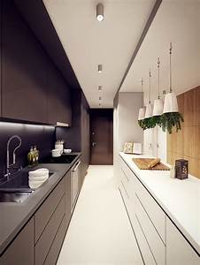 functional long narrow kitchen ideas designs and cabinets With kitchen colors with white cabinets with long narrow horizontal wall art