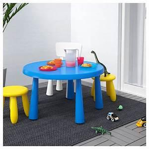 Table Enfant Exterieur : mammut table enfant int rieur ext rieur bleu 85 cm ikea ~ Melissatoandfro.com Idées de Décoration