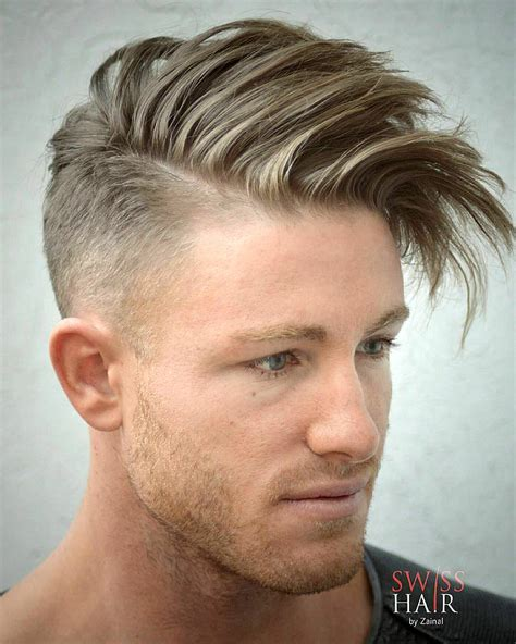 undercut sides messy hairstyles  men