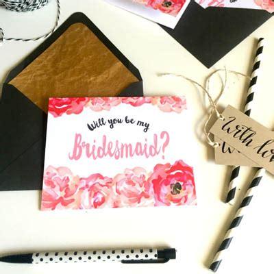 bridesmaid printables