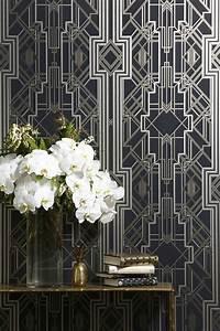 Interior design trend art deco wallpaper wall stencils for Art deco interior design trend