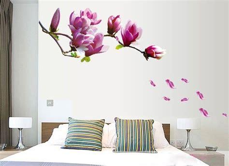 ufengke fiori romantici adesivi murali camera da letto
