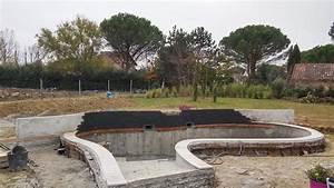 construction de piscines o39mineraux With piscine forme libre avec plage