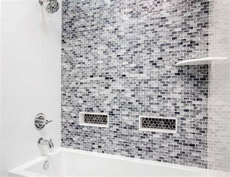 17 best images about bathroom on mosaics glass subway tile and bathroom showers