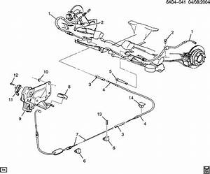 Cadillac Deville Cable  Parking Brake  Cable  Park Brk Rr