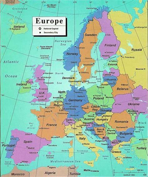 map of modern europe modern political map of europe maps