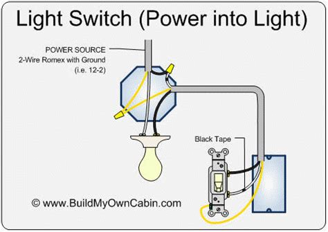 Wiring Light Switch Power Into